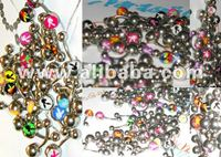 Sexy Playboy Belly Navel Body Jewelry 75 pcs/lot