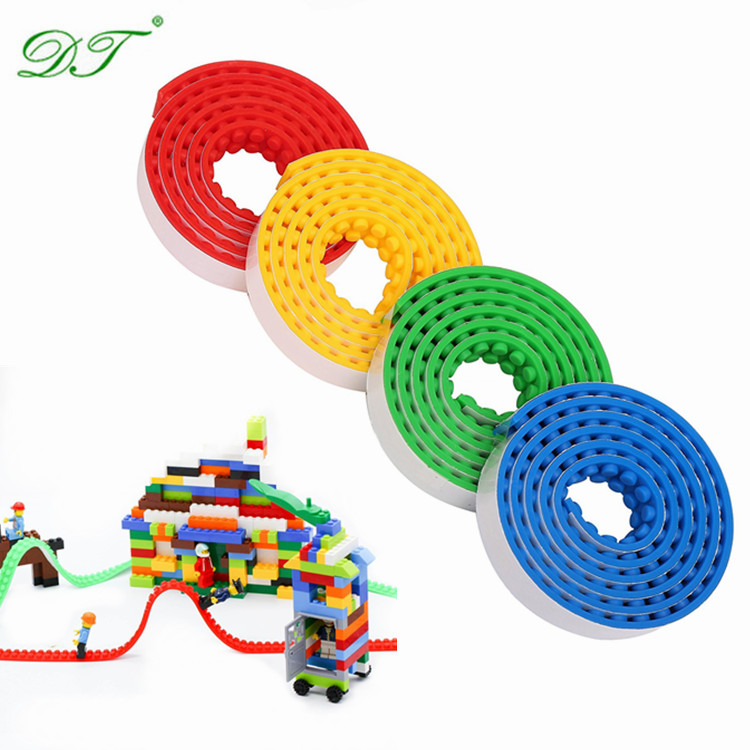 Amazon 2 Dots Cuttable Reusable Adhesive Kids Toys Legos' Silicone Block Tape