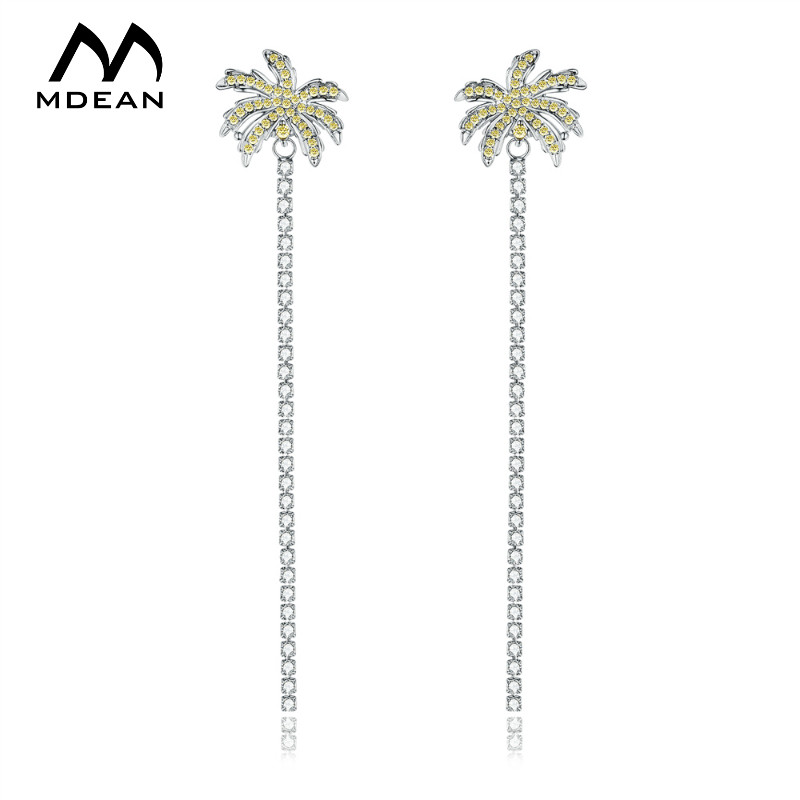 White Gold Color Drop Earrings for Women Yellow AAA Zircon <strong>A008</strong>