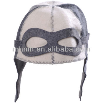Sauna Hat Pilot White/Gray