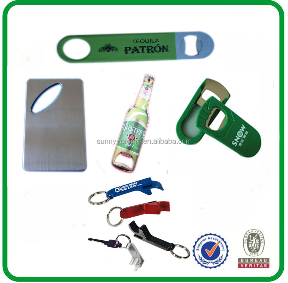 different material of metal bottle opener with customized design