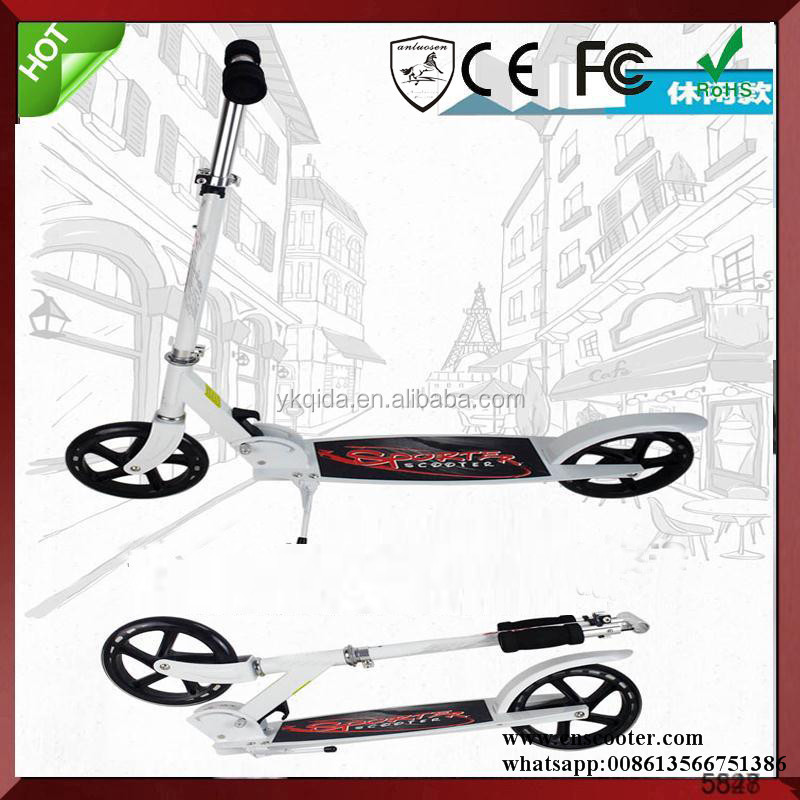 Big 200 mm wheel adult skate scooter 2 wheel adult mini scooter mobility scooter