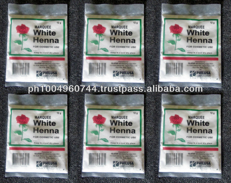 6 Marquee White Henna Bleaching Powder for Cosmetic Use 12g each