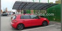 2016 quality outdoor products cheap aluminium carports with polycarbonate sheet roof