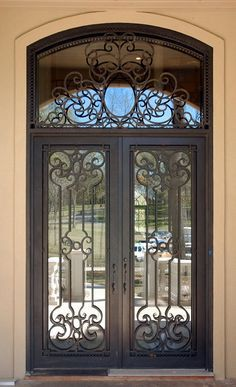 SG-15D024 Security features elegant design Wrought iron door
