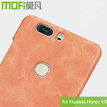 MOFi Original Fundas Celulares Case for Huawei Honor V8, Huawei knt-al20 PU Leather Back Cover Housing for Honor V8