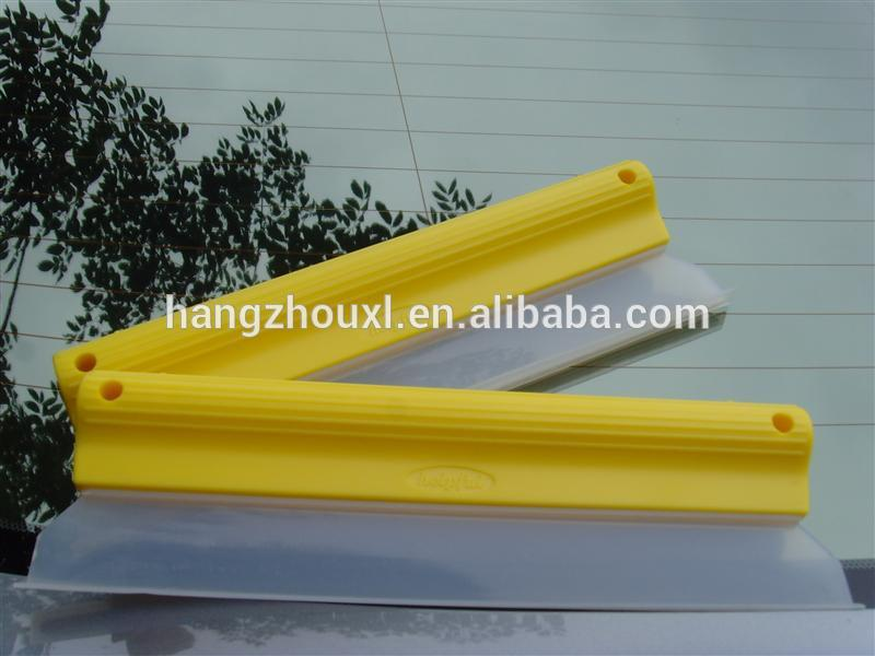 T shape handhold silicone water blade,cheap quality soft car squeegee