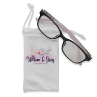 with custom logo print microfiber sunglasses pouch