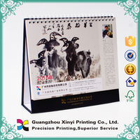 2014 Customized design and high quality calendar /high quality photo wall calendar printing