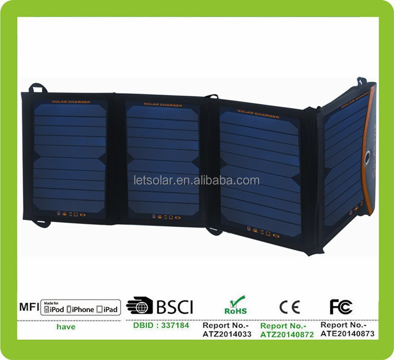 2015 hot new products foldable solar panel,dual usb port portable charger for mobiles