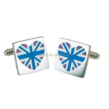 New Design Valentine's Gifts GB Tattoo Ink Blue Union Jack Heart Cufflinks
