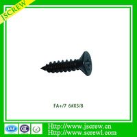 Dongguan manufacturer Jscrew 6# Black Phillip flat head Bed screw