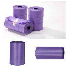Custom Made Plastic Bags Durable Purple Garbage Bag on Roll