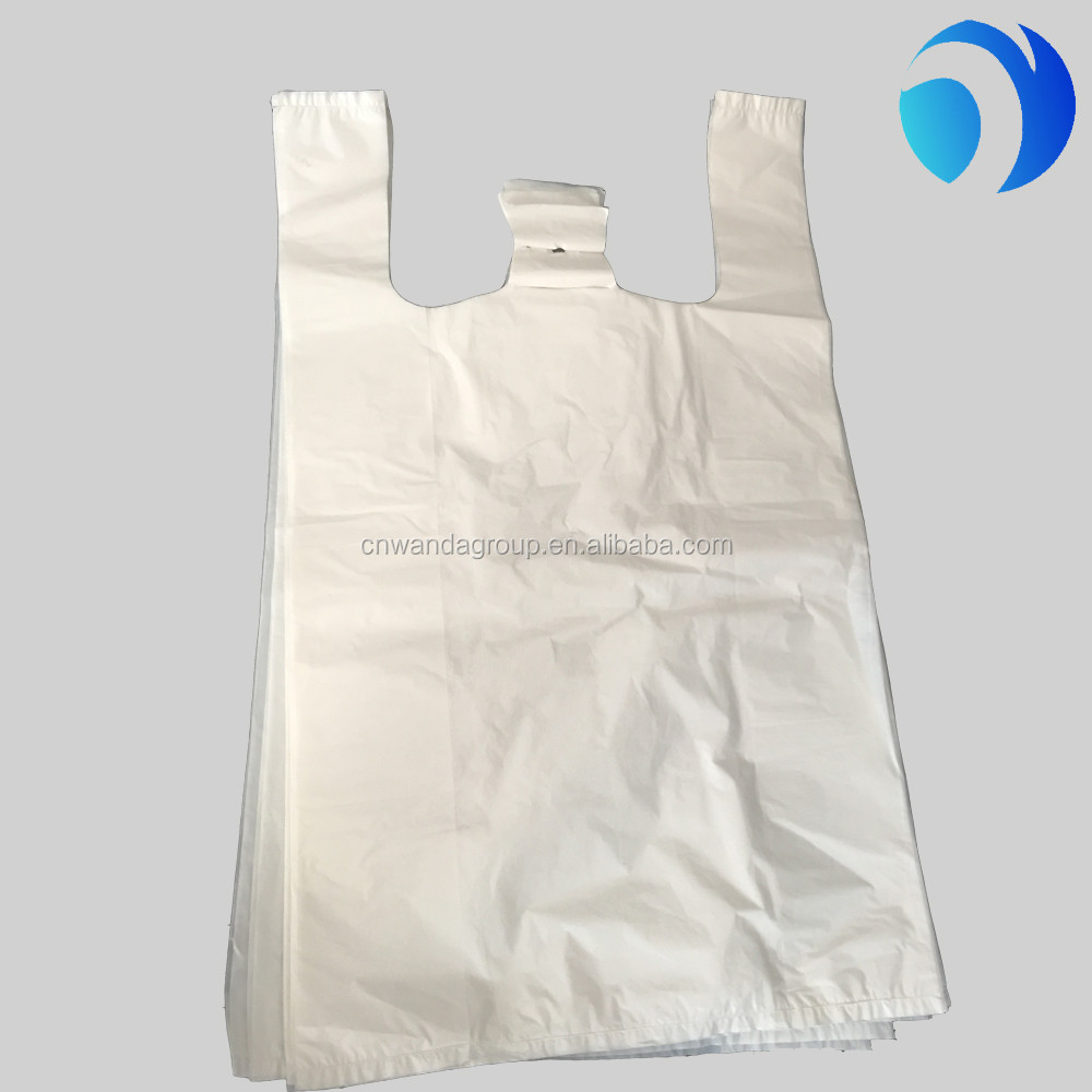 liquid packaging plastic t-shirt bag in roll
