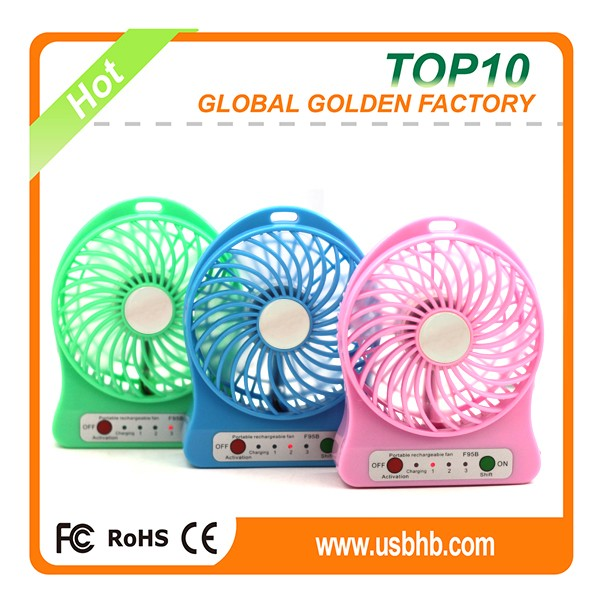 Portable small Battery Powered home appliances mini electronic fan used for usb charger