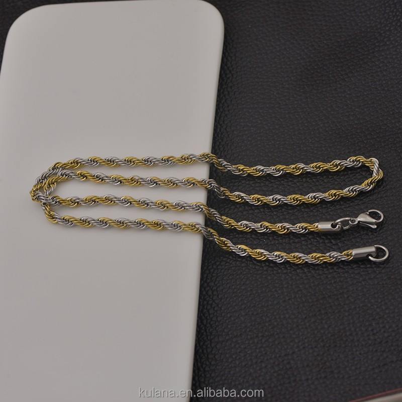 Wholesale stainless steel cuban chain necklace link chain
