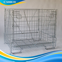Logistic Equipment about Industrial Stackable Storage Wire Mesh Container