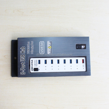 classic shape Aluminum alloy usb 3.0 hub 7 usb3.0 port and 1 charging port for many different occasion