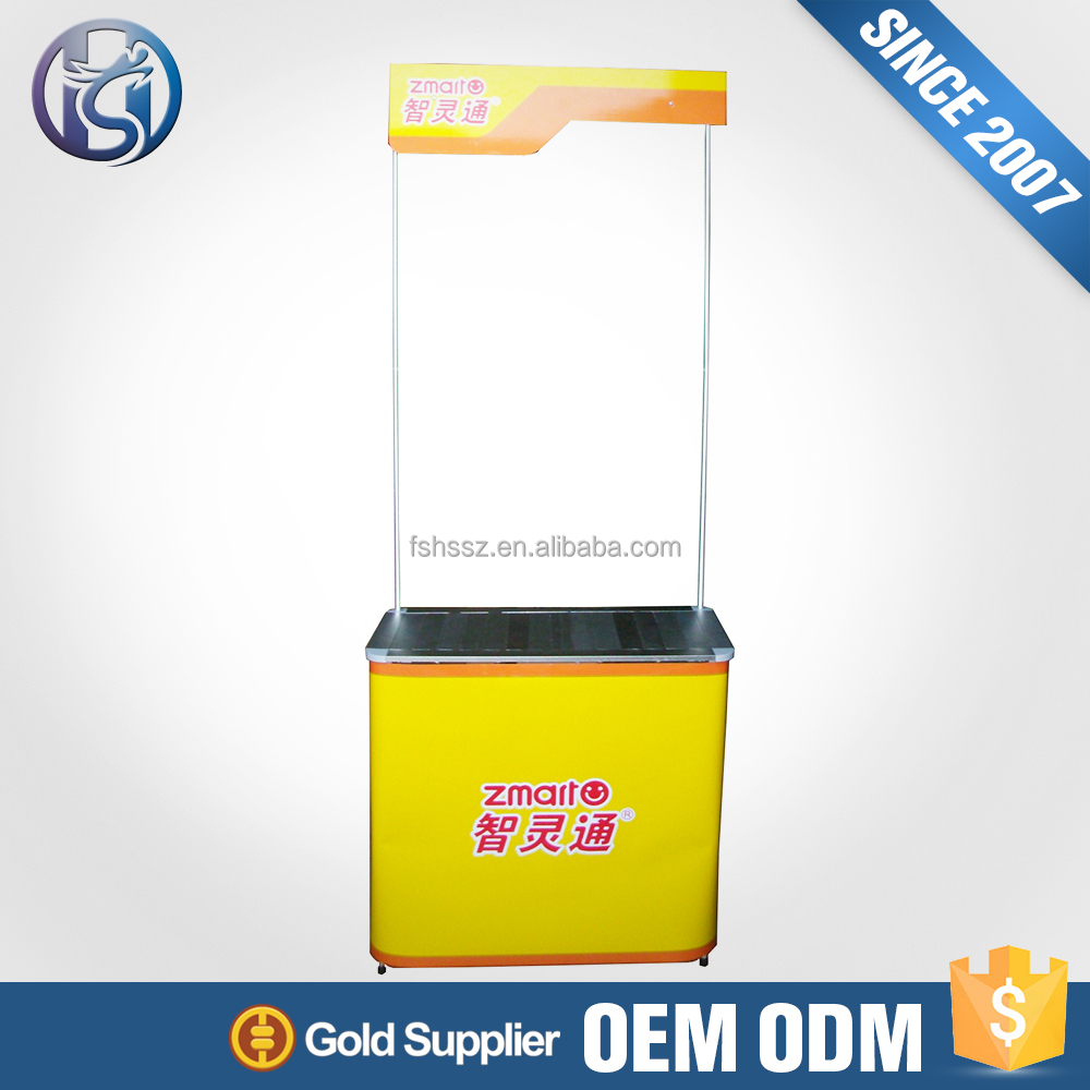 China Supplier Promo Portable Counter Display Advertising Table