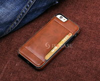 Business Style Card Slot PU Leather Hard Phone Case for iPhone 6S 6S Plus