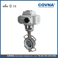 Products DN50 Electric actuator wafer butterfly valve