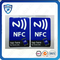 Hot sell 13.56mhz smart tags nfc Chip: S50,Ultralight ,NTAG203 or customized