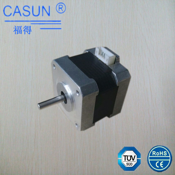 casun 42SHD0003-22S 42mm 12 volt dual shaft stepper motor nema 17 42x34mm high torque hollow shaft