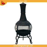 outdoor cast iron chiminea/outdoor fire bbq