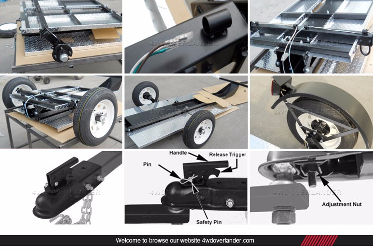 Aluminum Enclosed Lightweight Pull behind Motorcycle Trailer