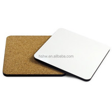 best sell custom square blank sublimation mdf cork coaster 95x95mm