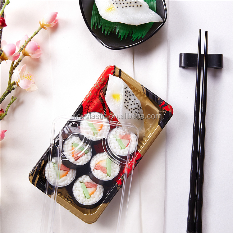Disposable Plastic Sushi Box for take out