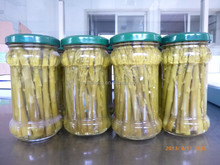 212ml glass jar white/green asparagus spear