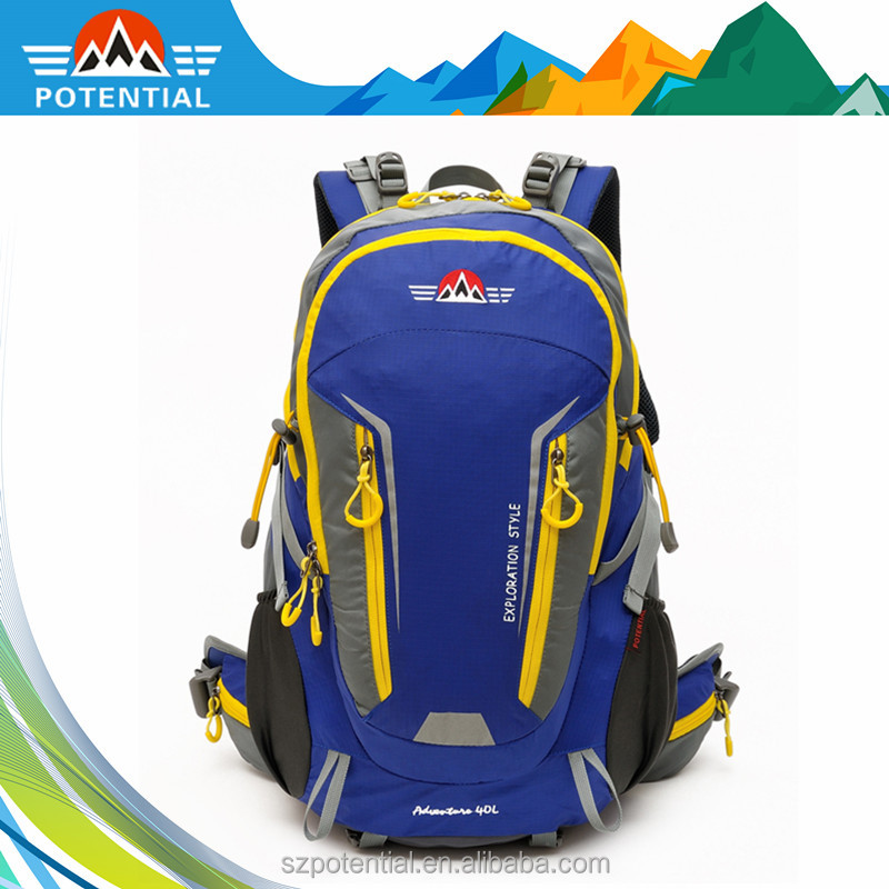 practical 40L trekking hiking outdoor camping backpack bag