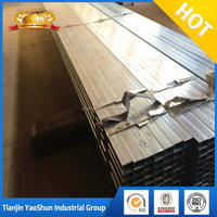 Tianjin big mill pre galvanized square tube iron fence