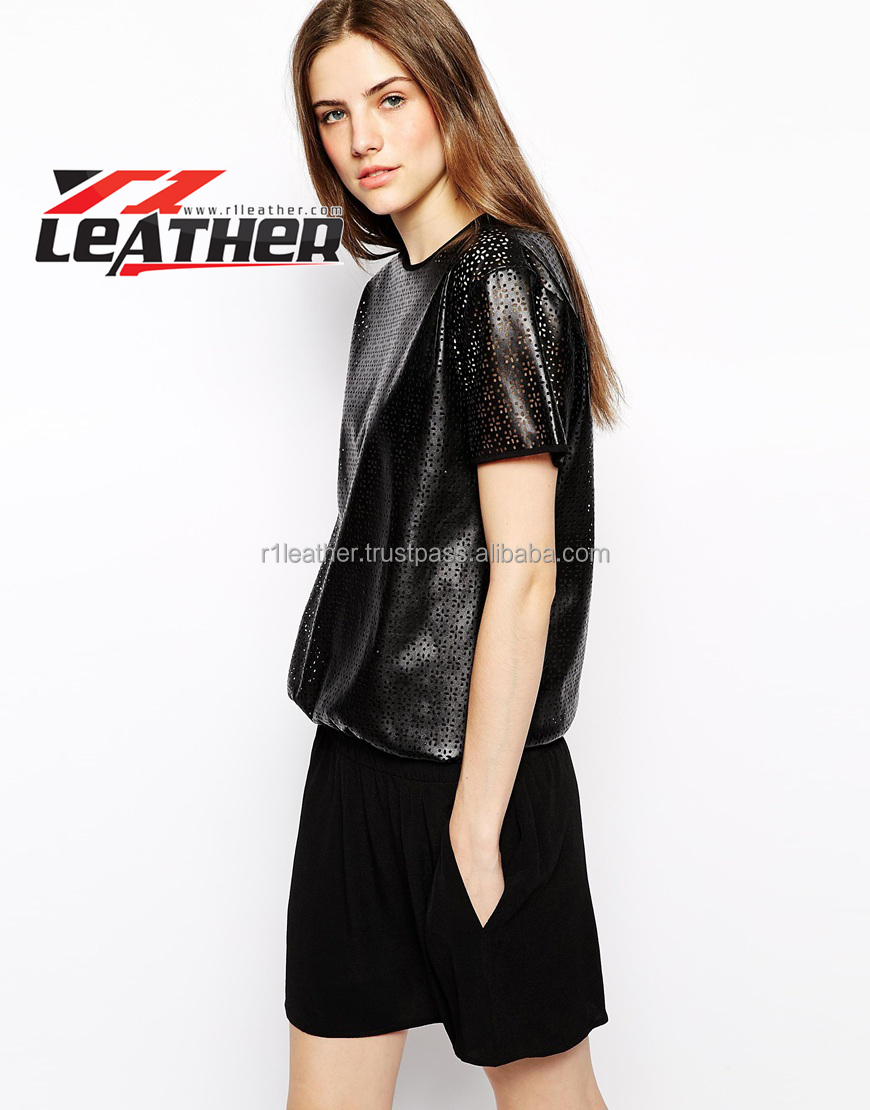 2015 Leather lace dress for lady/casual dress/OL dress