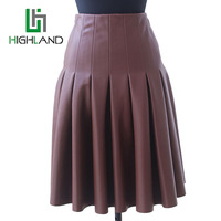 2016 PU Leather Skirts For Ladies