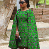 2017 Autumn Wax African print 100% cotton plus size cape designs dress
