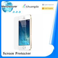 manufacturer high clear screen protective film tempered glass for iphone 5/5s samsung galaxy s4/s5 Mobile phone accessory
