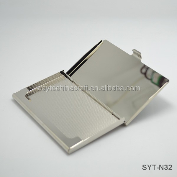 Mother of pearl stainless steel business card case