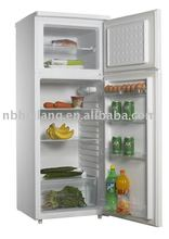 locked key double door refrigerator