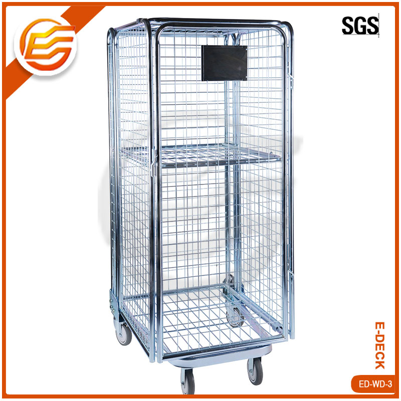 Collapsible save-space metal storage bins customized industrial warehouse use