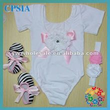 new cute baby leotards with white color