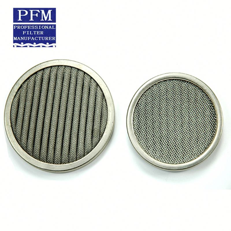 sintered metal stainless steel round water fine filter wire mesh disc