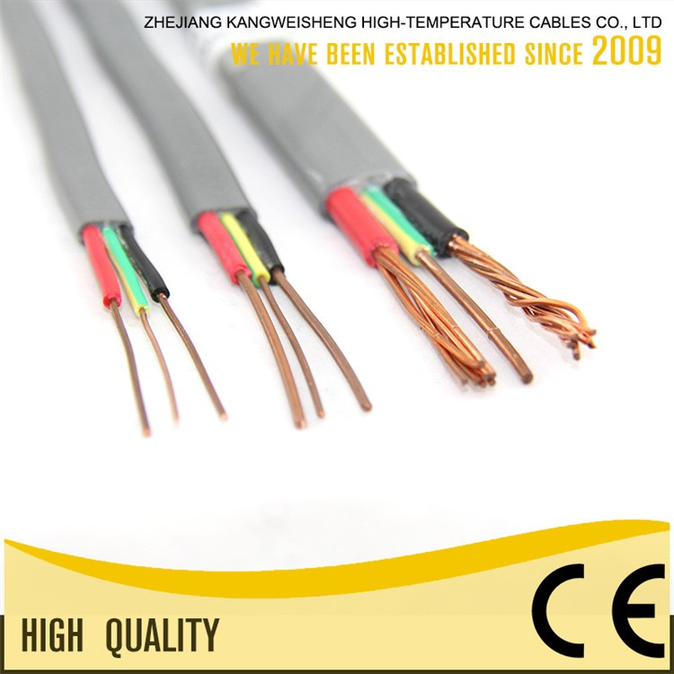 624-B Solid Conductor Type House Building Electrical Wire Flat Cable