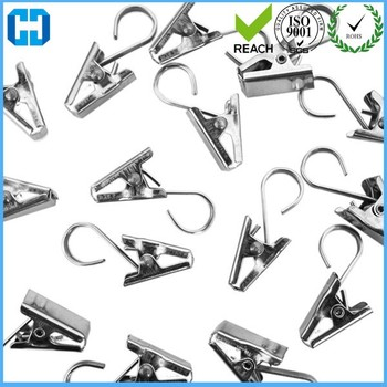 Factory Directly Selling Nickel Curtain Clips With Hook For Showers