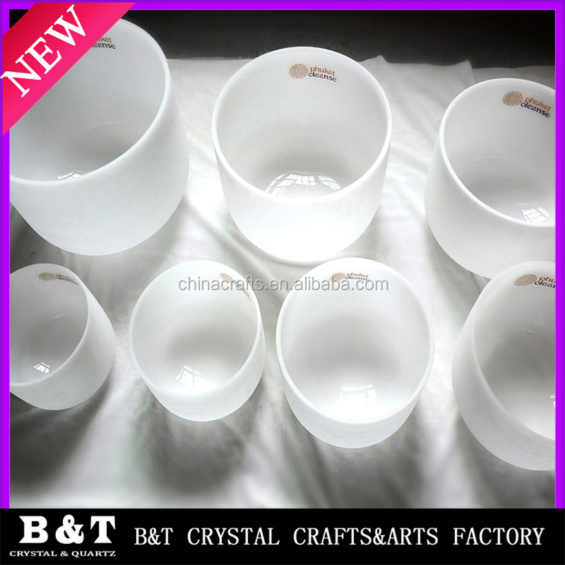 2017 Newest design 7 Chakra energy Quartz Crystal Singing Bowl set