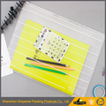 A4 A5 A6 or custom you specify size plastic zipper docuement file slider zipper bags with print