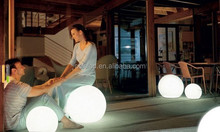 IP67 beautiful white plastic lighting garden party decor ball led light furniture