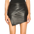 High Quality lady short skirt Sexy Tight Buttocks Leather Mini Skirt Women