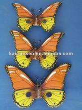 Hand painted ceramic butterflies sculpture